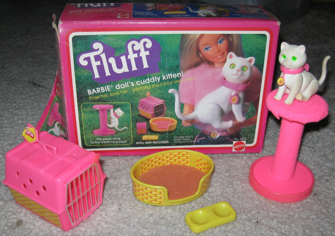 Barbie S Cat Fluff One Of My Favorites Barbie Cat Barbie Playsets Barbie