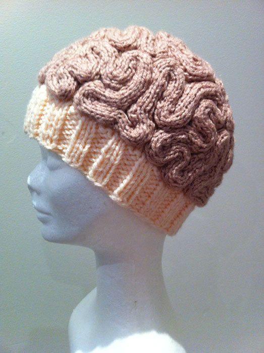 93c525fec4109 ANNABANANNA Made to order Knitted BRAIN Beanie