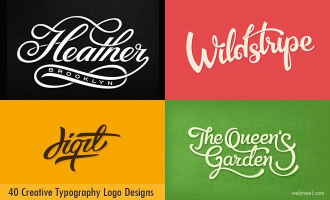 40 Creative Typography Logo design inspiration for you. Read full article: http://webneel.com/typography-logo-design | more http://webneel.com/logo-design | Follow us www.pinterest.com/webneel