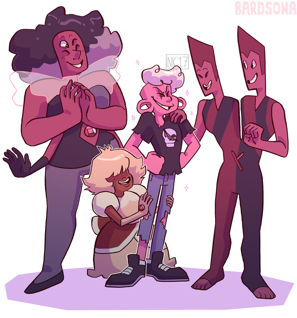 Us off-colors stick together!! I tried my best to include Fluorite, but she just was not working out from a compositional standpoint… :( I'll make it up to her later by drawing her