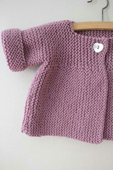 Baby Sweater Knitting Pattern Jumper Basic Baby Cardigan Toddler ...