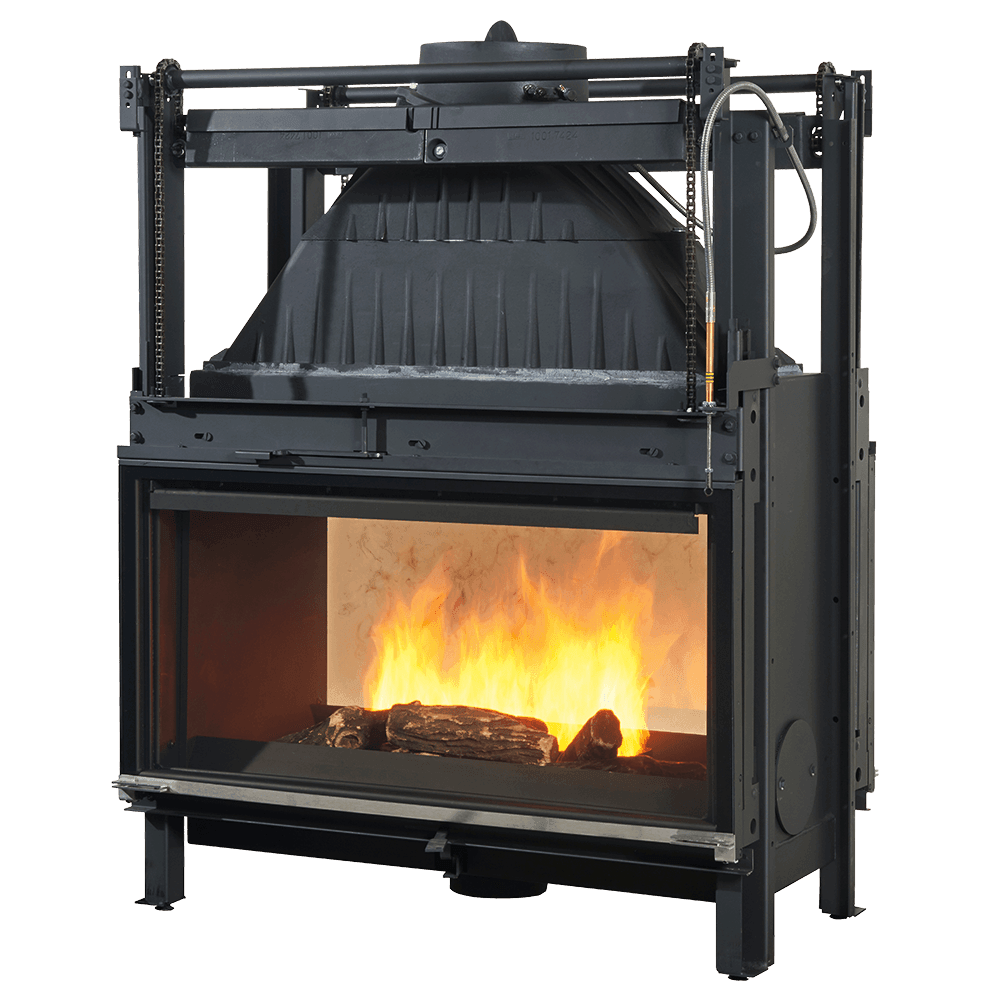 This double sided wood fireplace comes with double sided ...