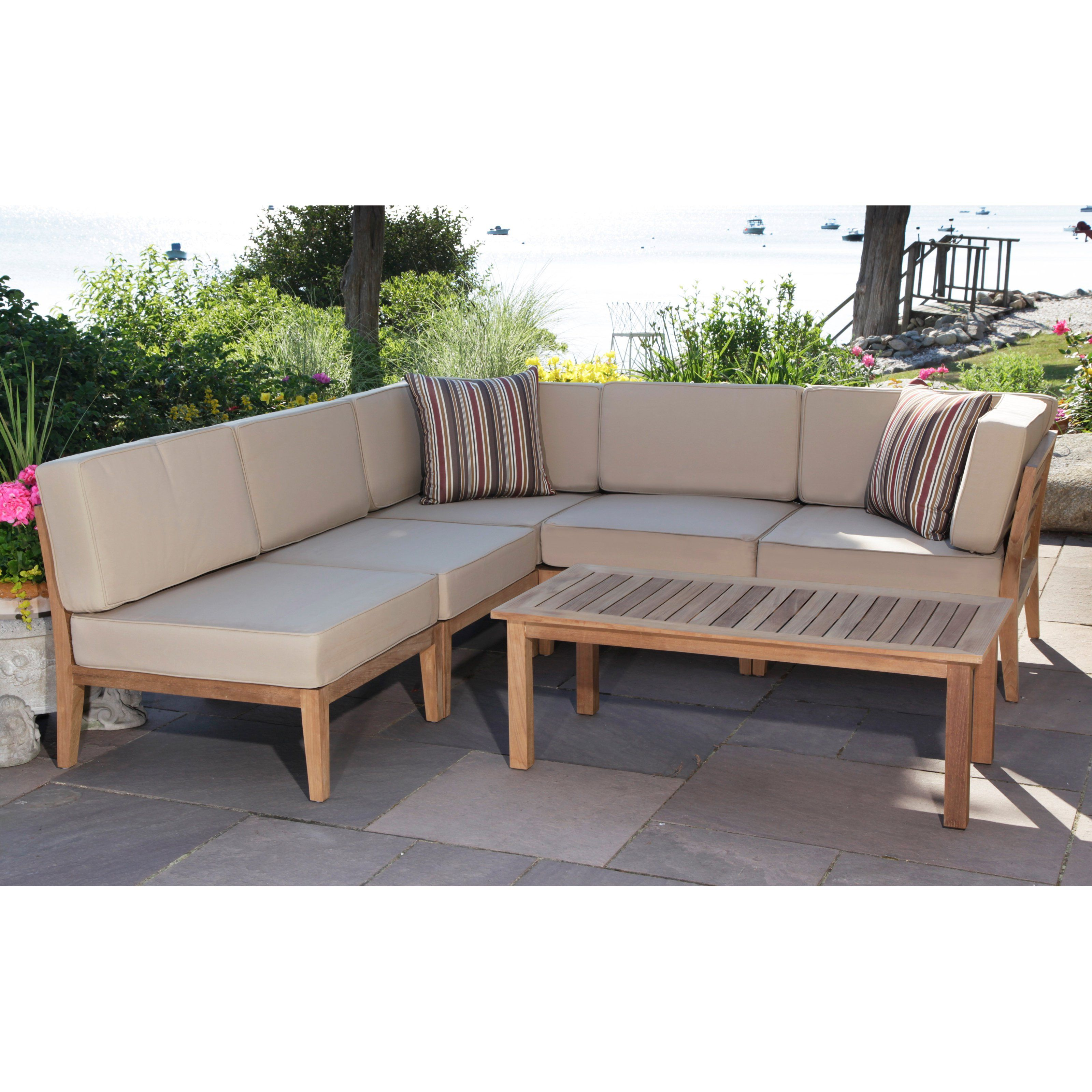Miraculous Outdoor Madbury Road Bali Teak Quick Drying 7 Piece Patio Alphanode Cool Chair Designs And Ideas Alphanodeonline