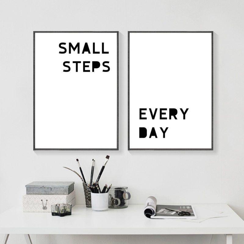 Inspirational wall art motivational wall decor quote prints bedroom wall art encouragement office decor gift