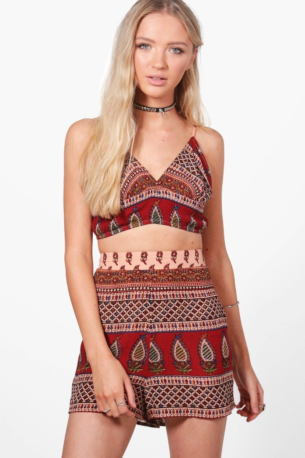 Co-ordinates are the quick way to quirky this season  Make way for the matchy-matchy trend this season as style gets streamlined with co-ord sets. Top to toe prints are conversation starters with crop tops, skorts and skirts all in on the action. Break it up with a waist belt and add a quirky clutch for instant style kudos.