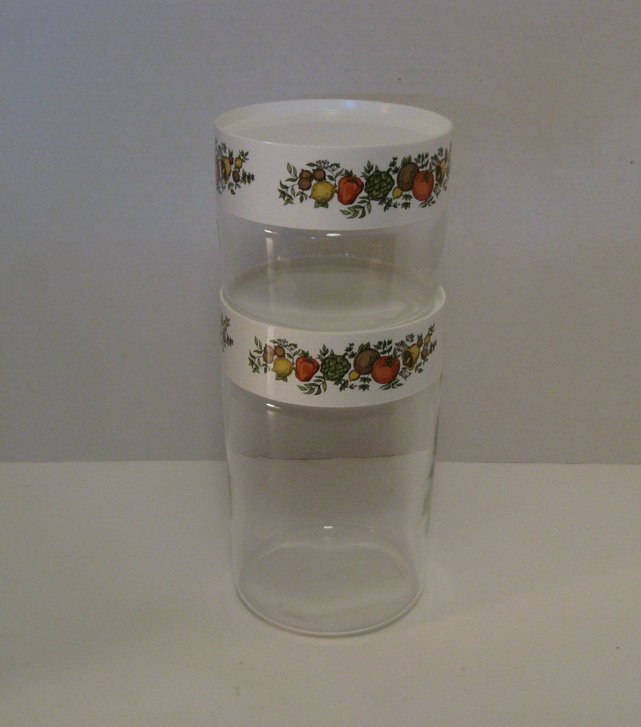 vintage corning ware spice of life store and see canisters pyrex vintage corning ware spice of life store and see canisters pyrex set of two