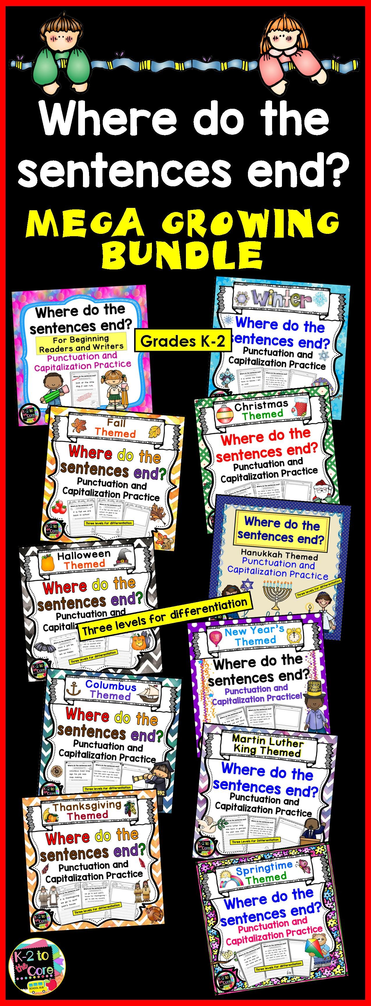 Writing Capitalization And Punctuation Practice Mega