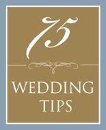 74 Wedding Tips