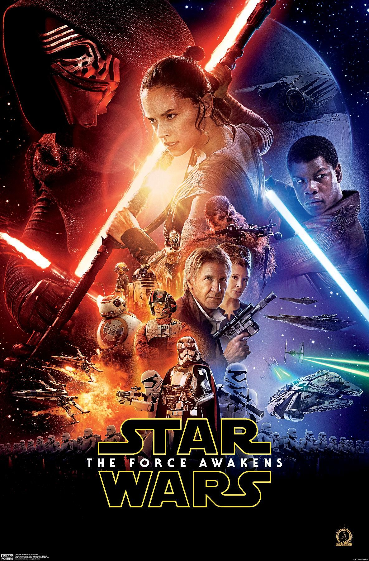 24x36 Star Wars: The Force Awakens - One Sheet Poster