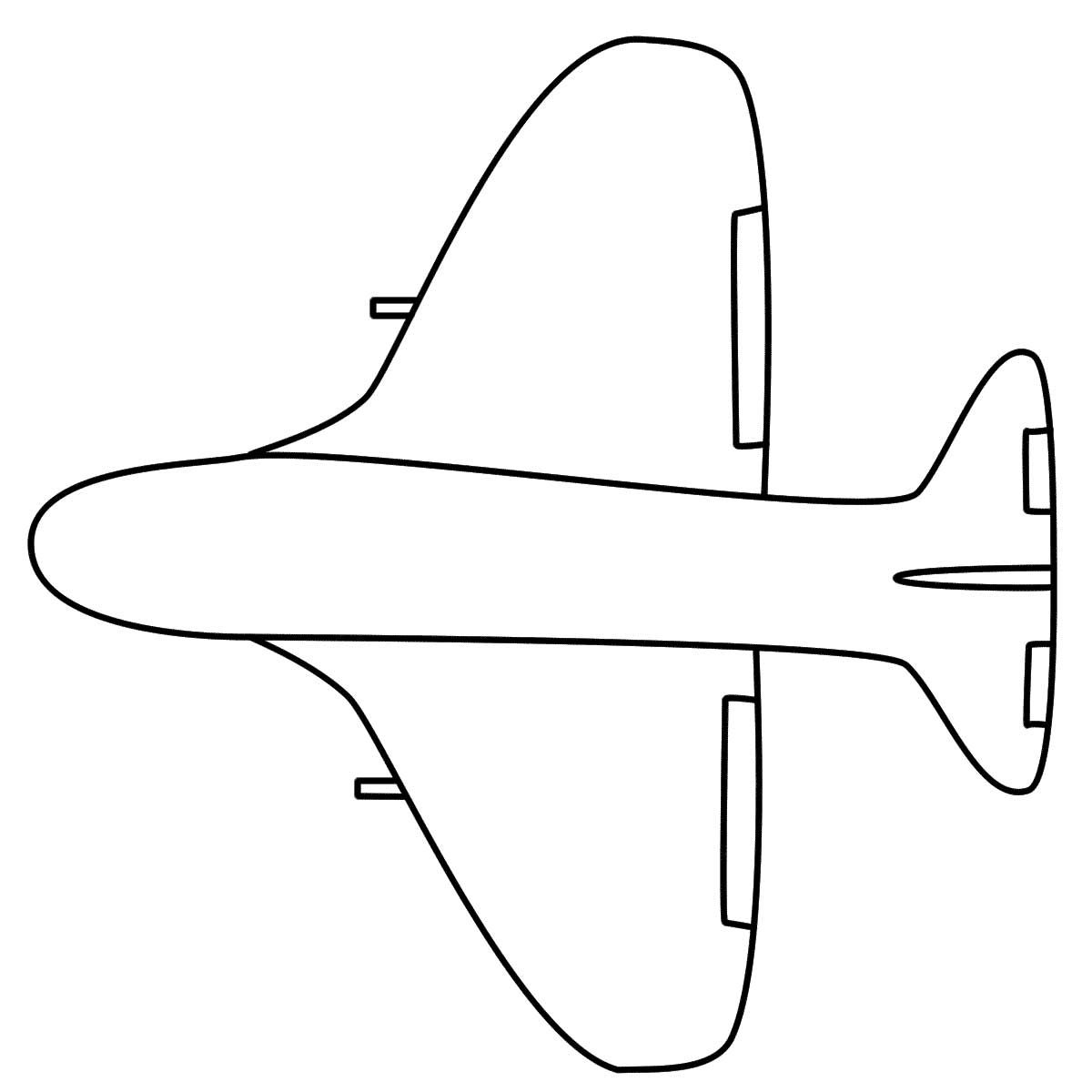 Simple Airplane Coloring Page | Sewing Patterns | Pinterest