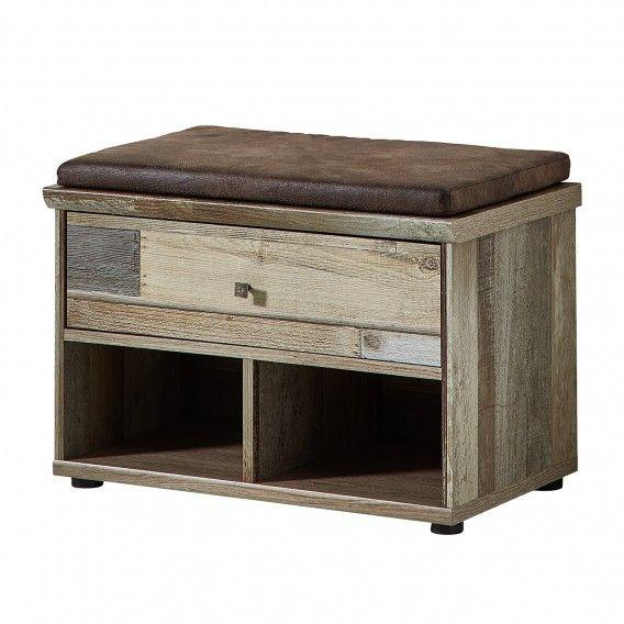 Garderobebank Tapara I (incl zitkussen) - bruin\/grijs home24nl - ikea sideboard küche