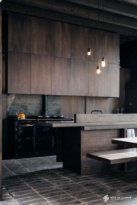 12 Playful Dark Kitchen Designs  Kitchens Kitchen Design And Pleasing Dark Kitchen Designs Decorating Design