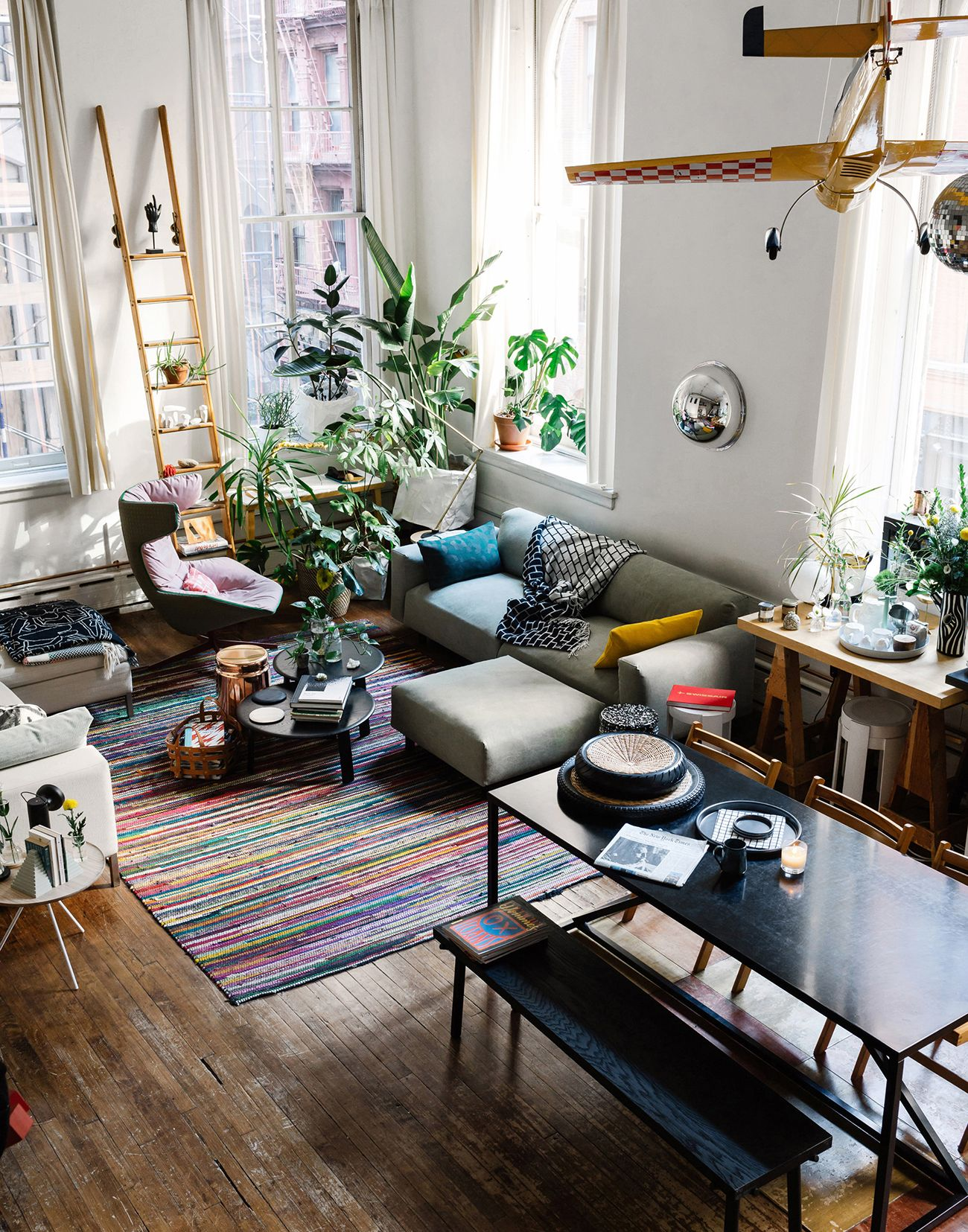 Pieterjan mattan tribeca home tour with hem colorful interior design living area living spaces