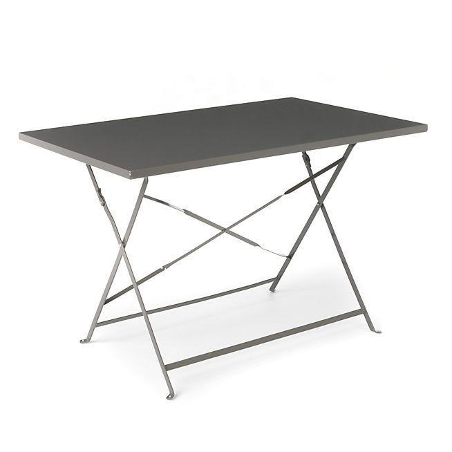 Pims Table de jardin pliante taupe en métal | Tables de jardin ...