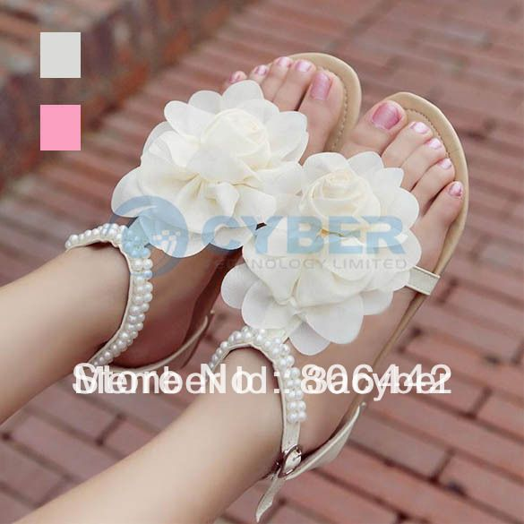 3a26c6139 Fashion Women Summer Shoes Flat Sandals PU Leather Buckle With Big Flower  Leisure Sandals £9.18