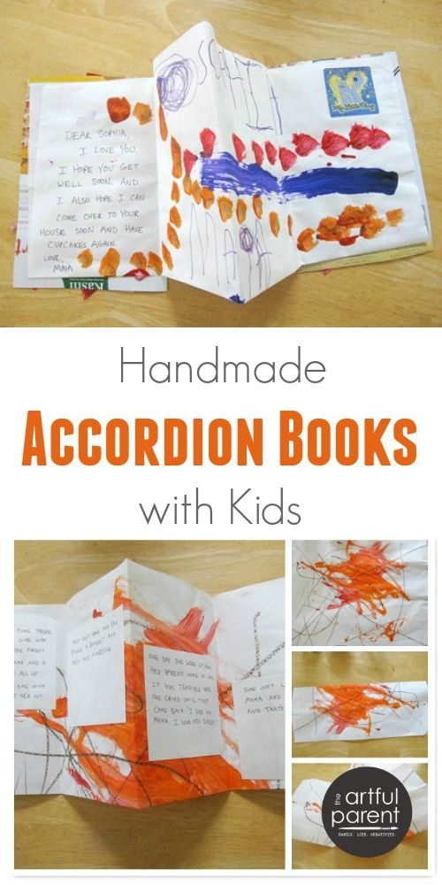 Making Handmade Accordion Books with Kids | The Artful Parent - Kids