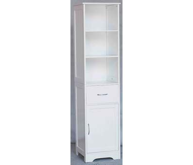 Shelves Cabinet White Wood Tall Floorstanding 2401250 Furniture In Fashion Bathroom Cabinets With Modern And Traditional Galore