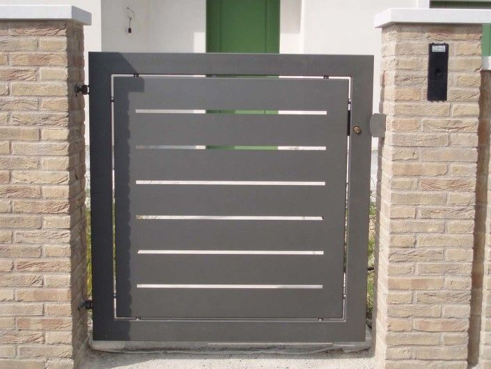 Cancelli moderni modello 10 porta portail et cloture for Lance per cancelli in ferro