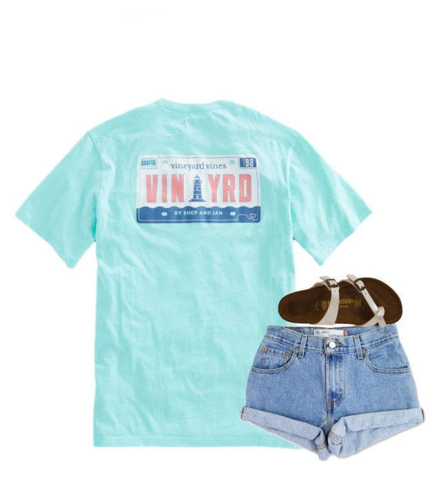 """""""Comment when school starts for you"""" by beautylove200 ❤ liked on Polyvore featuring Levi's and Birkenstock"""