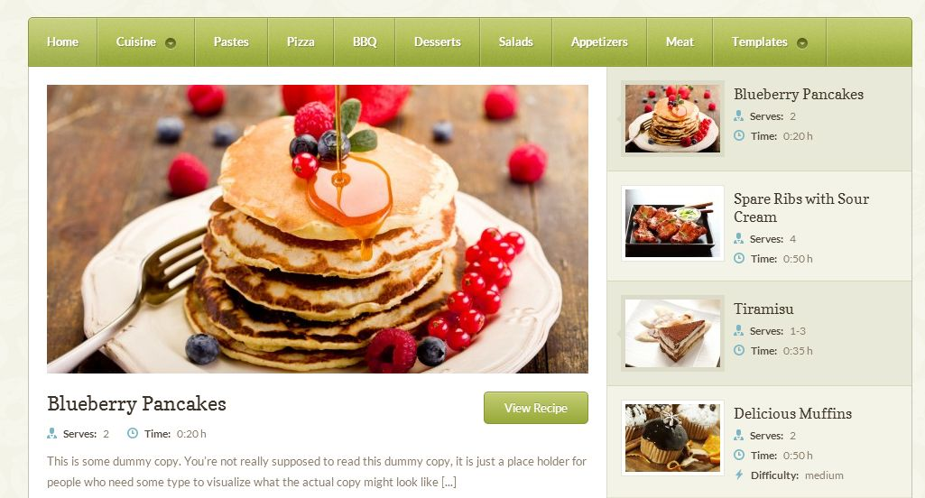 Petit recipe website wordpress theme built with baking cooking petit recipe website wordpress theme built with baking cooking and custom dishes forumfinder Choice Image