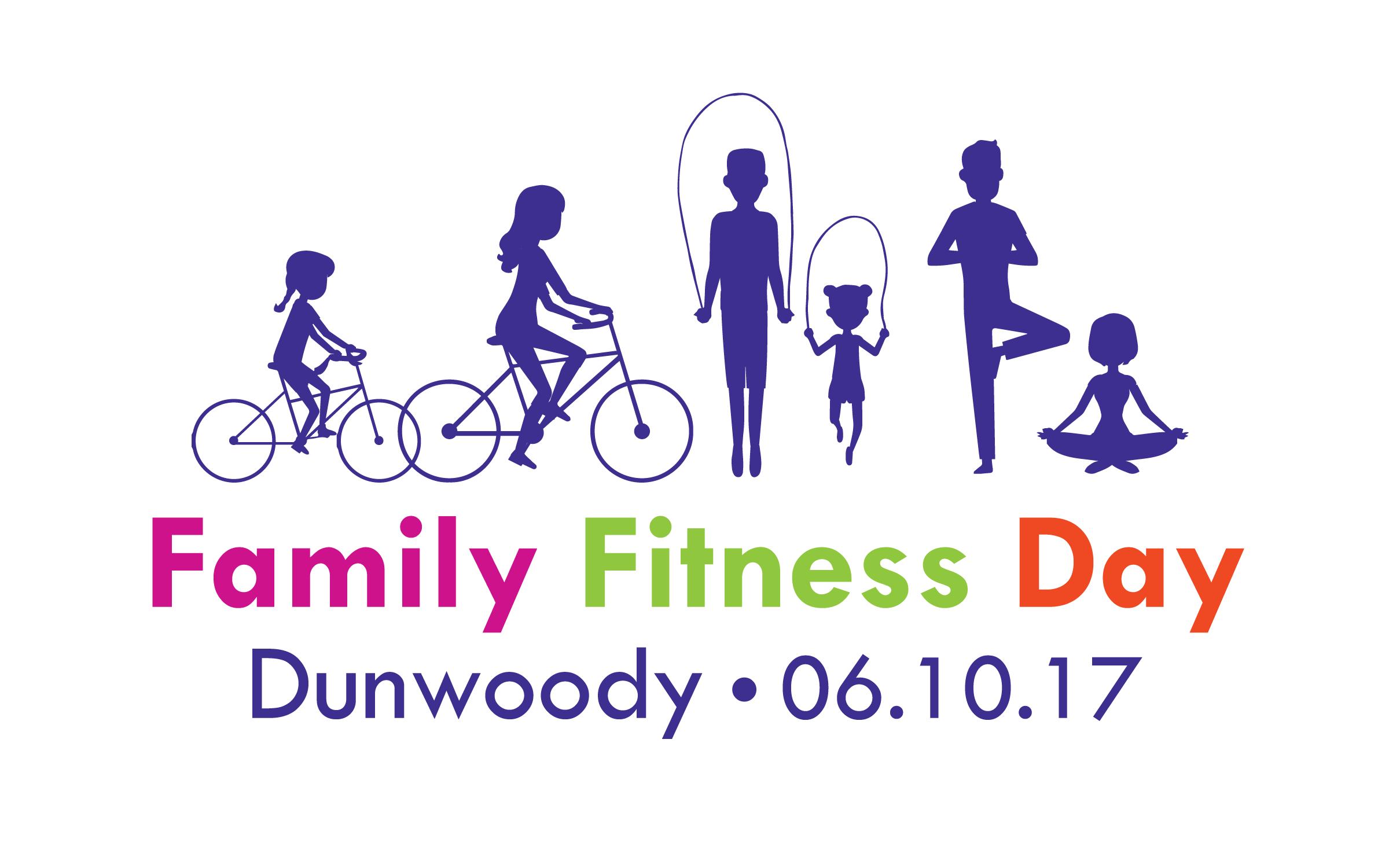 Family fitness day vector pinterest family fitness