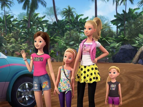 Barbie And Her Sister In A Puppy Chase Official Photo Barbie Barbiemovie Barbiedoll Mattel Anythingis Barbie Cartoon Barbie And Her Sisters Barbie Puppy