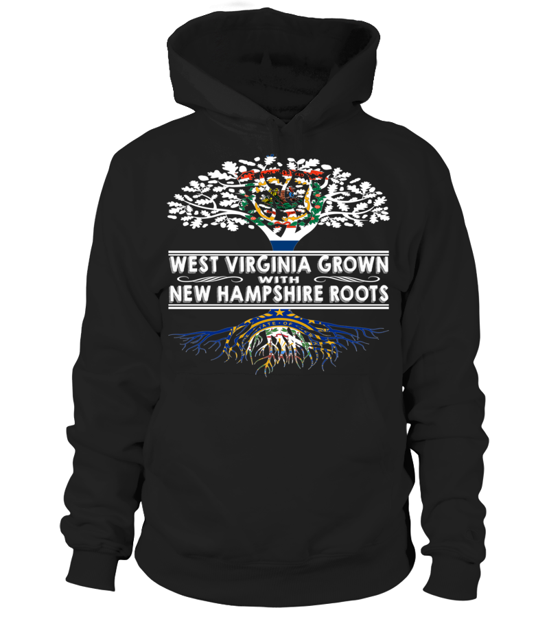 West Virginia Grown with New Hampshire Roots State TShirt
