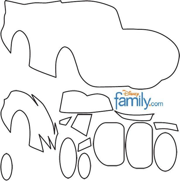 Molde Mcqueen Disney Carros Dicas Para Festa Infantil Festa