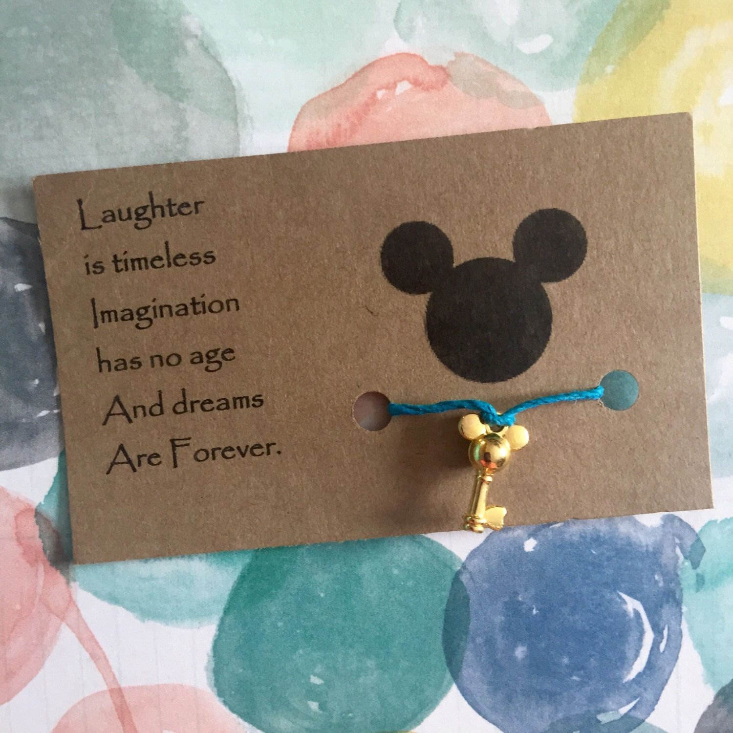 A personal favorite from my Etsy shop https://www.etsy.com/listing/400139785/mickey-mouse-bracelet