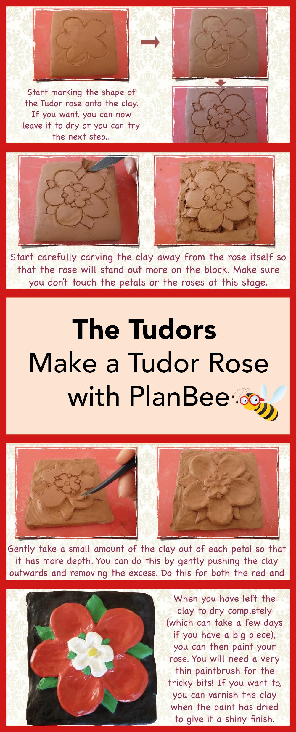 Photo of Design and make a clay Tudor Rose