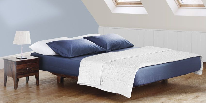 Studio Bed, Double, King, Same Dimension As The Mattress. Mount Headboard  On The Wall?