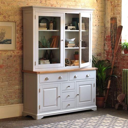 Boston Light Grey Dresser Country Kitchen Dresser Furniture