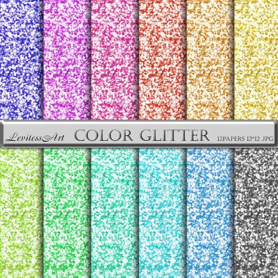 Color glitter digital Paper sparkling от JulieDigitalArt на Etsy