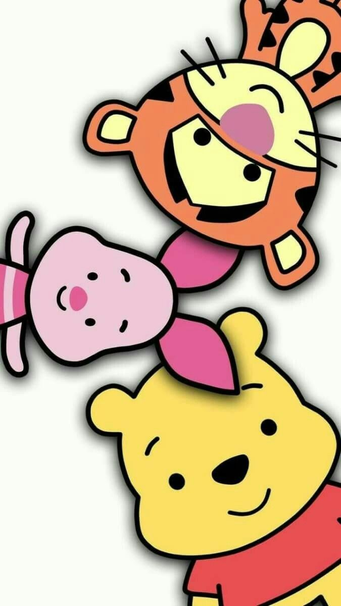 Tiger Piglet And Pooh Cute Disney Wallpaper Disney Cuties Disney Phone Wallpaper