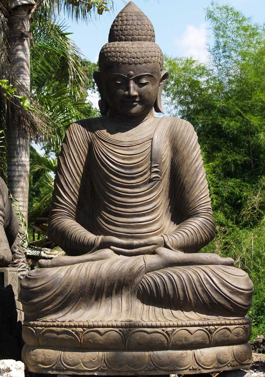 Large Garden Buddha Statue Materials: Indonesian Lava Stone, Hand Carved In  Bali Weight: Approximately 4 Tons Or 8000 Pounds
