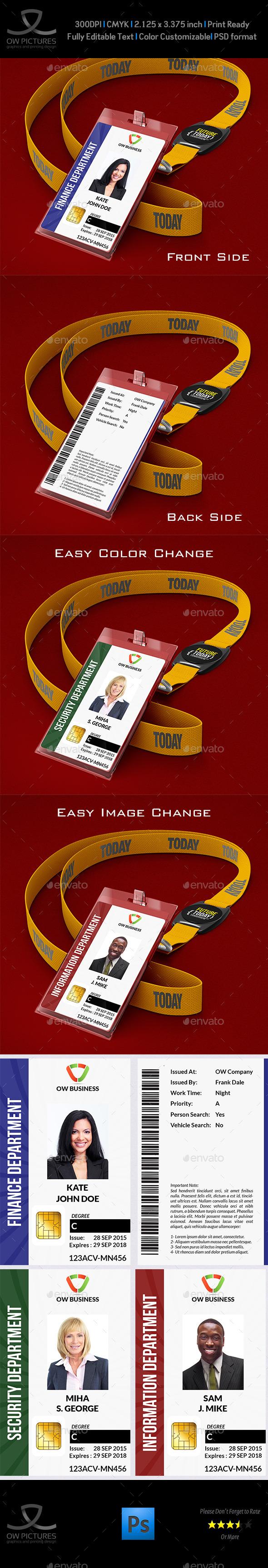 Multipurpose Business ID Card
