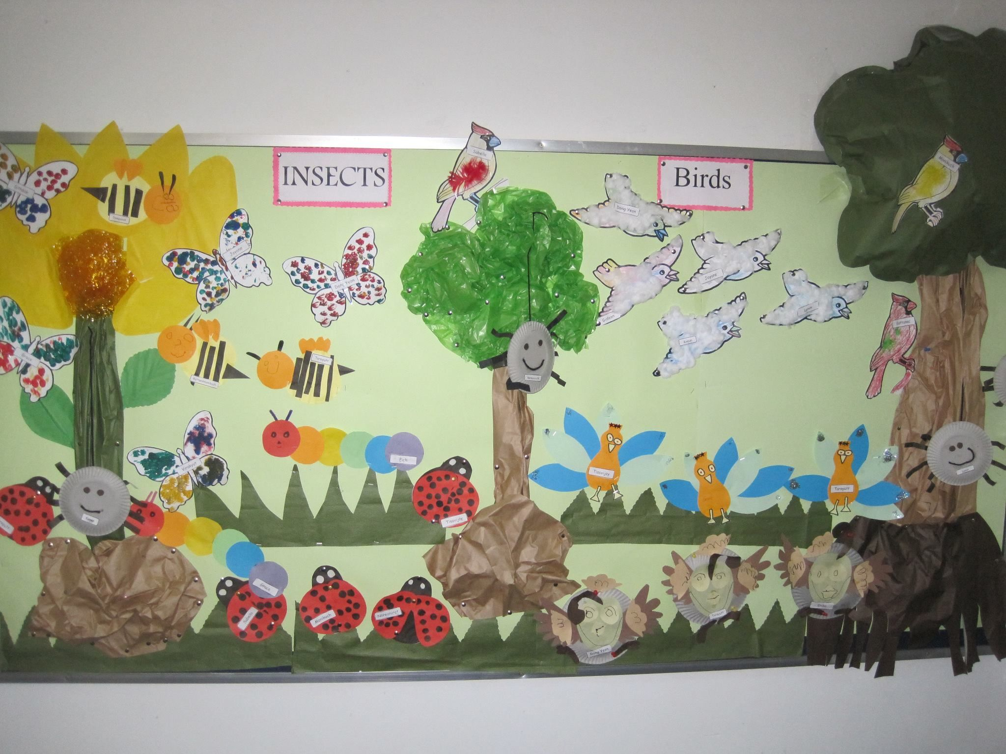 Go green vegetable bulletin board idea myclassroomideas com - Children S Selected Work For Our Theme Topic Birds And Insects Bulletin Board Displaybulletin Boardsdisplay Ideaschildren