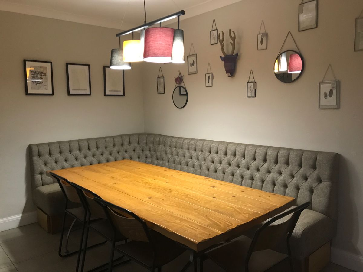 Booth seating for dining room