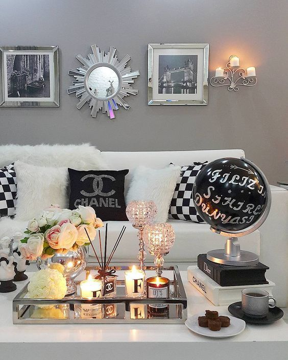 Chanel Inspired Living Room Sophisticated and Elegant Black