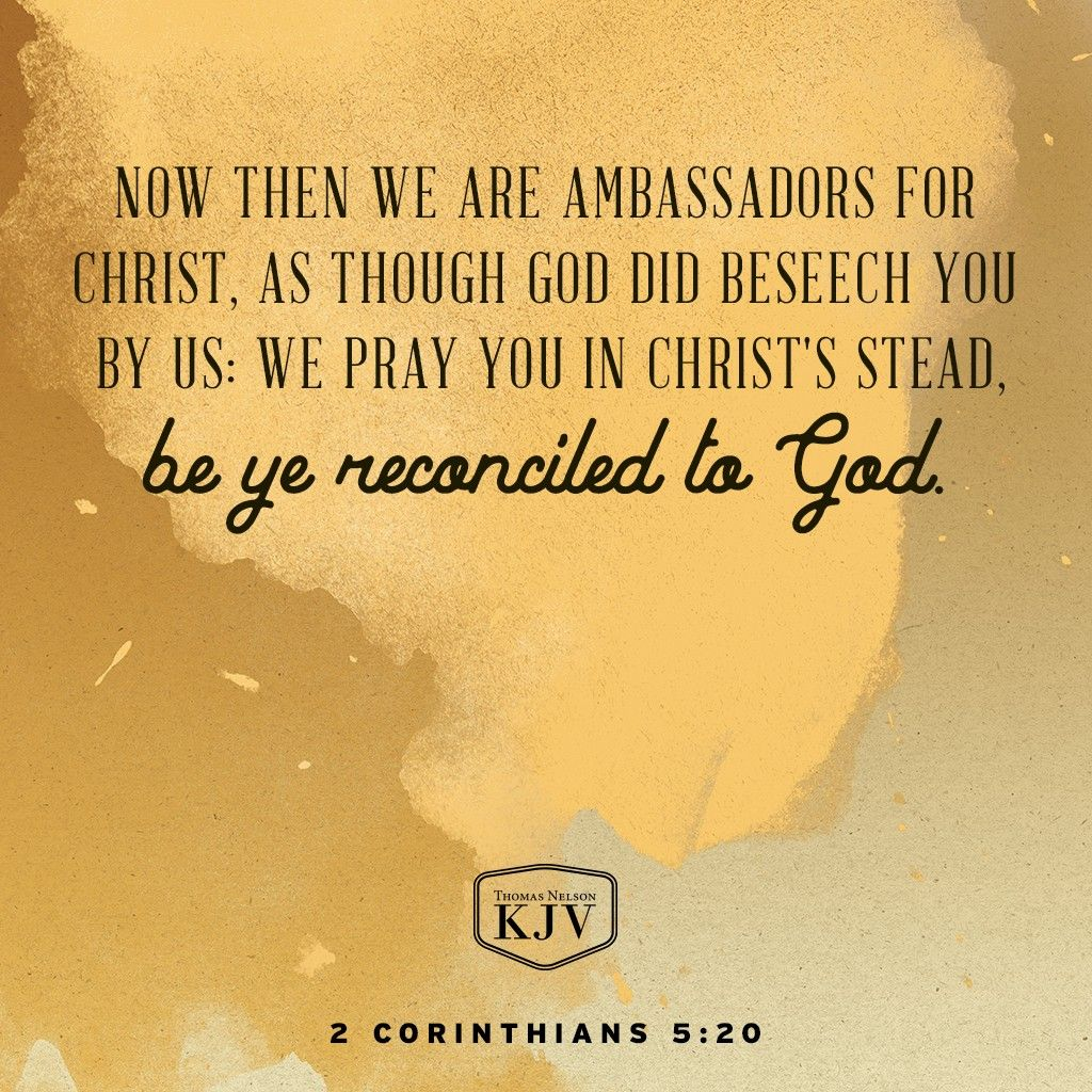 KJV Verse of the Day: 2 Corinthians 5:19-20 | Verse of the Day