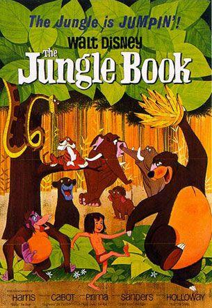 Walt disney jungle book animated movie