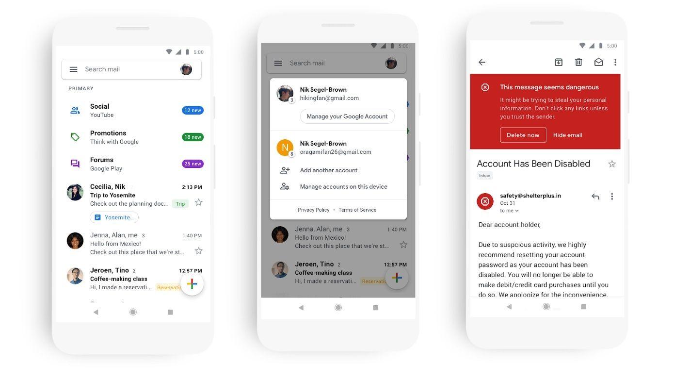 La nuova Gmail anche su Android (disponibile) e iOS (con
