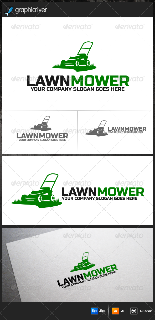 lawn mower logo png. lawn mower - logo design template vector #logotype download it here: http:/ png