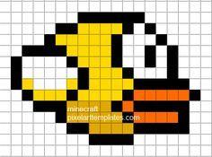 Minecraft Pixel Art Templates Flappy Bird Pixel Art Pixel Art Templates Minecraft Pixel Art