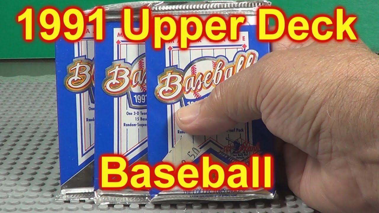 1991 upper deck baseball 3 packs opened upper deck