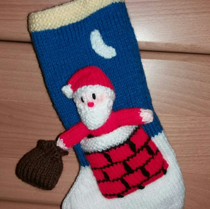 Mini Christmas Stocking from a Jean Greenhowe pattern