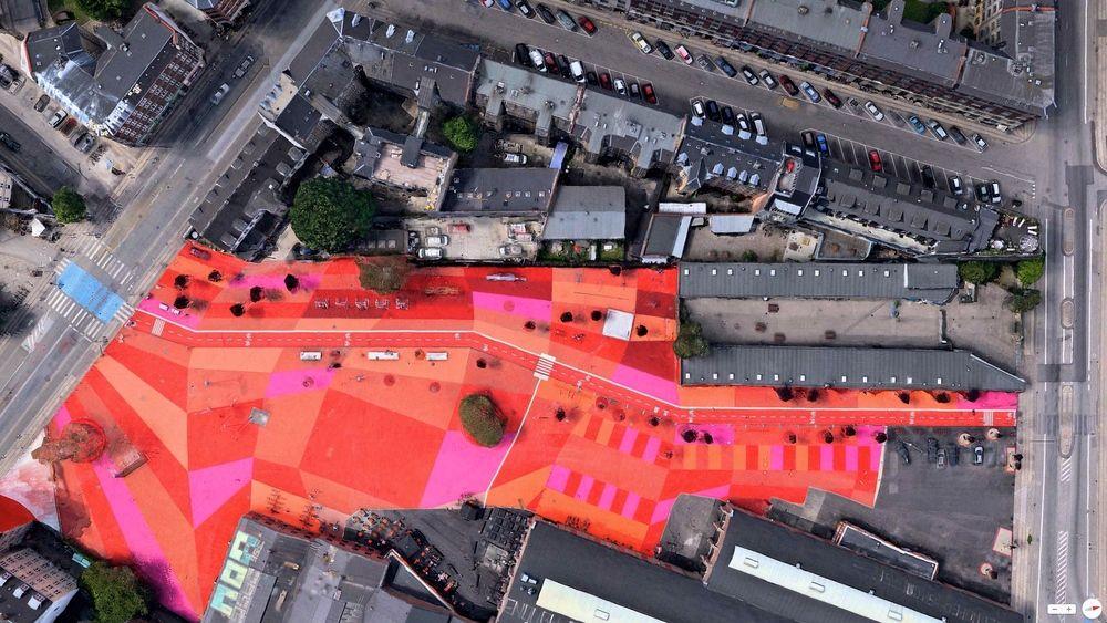 Urban scale graphics by BIG - Superkilen - Copenhagen, Denmark, 55°42′00″N 12°32′45″E ...