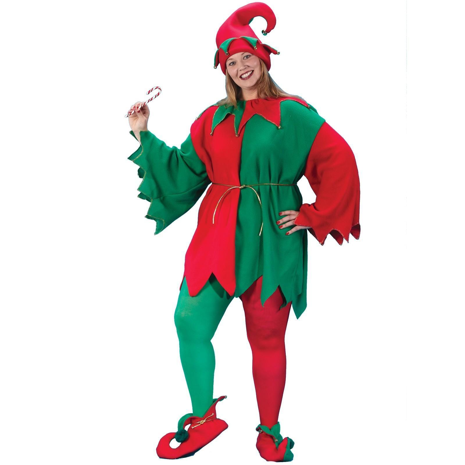 Adult Economy Elf Plus Size Costume | clown supplies ...