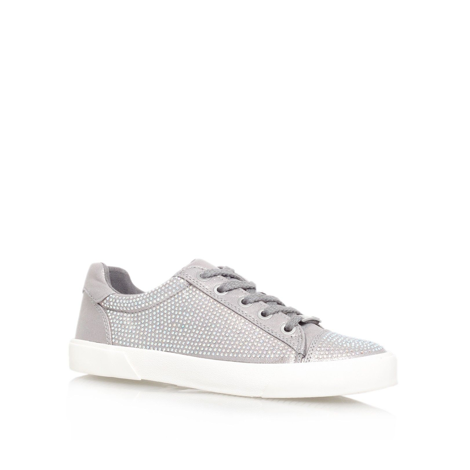 lock silver flat low top trainers from Carvela Kurt Geiger