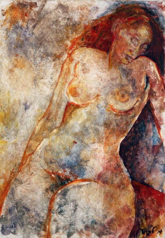 Portrait Print, Erotic Print, Nude Female Painting Print, Sensual Art,  Bedroom Wall Art, Print Art, Pictures For Bedroom | Contemporary Art |  Pinterest ...